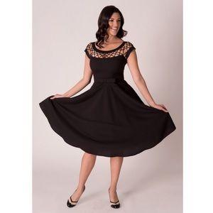 Tatyana pinup black Alika Circle dress • NWT